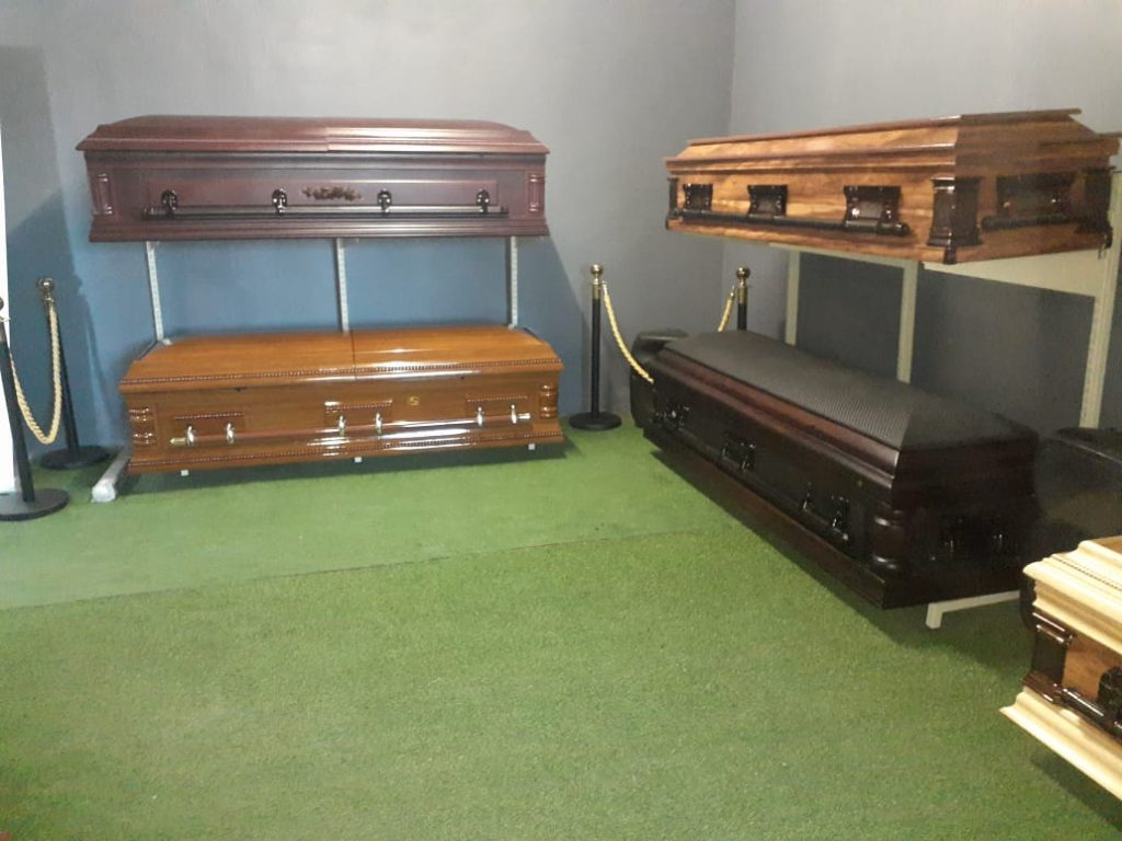 Bleki and Blackie caskets